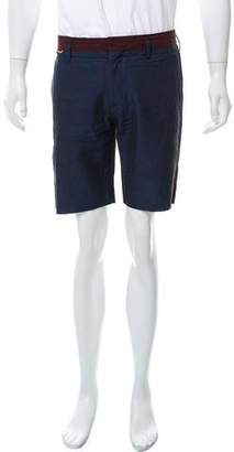 Marc Jacobs Linen Cotton Blend Flat Front Shorts