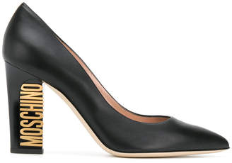 Moschino branded heel pumps