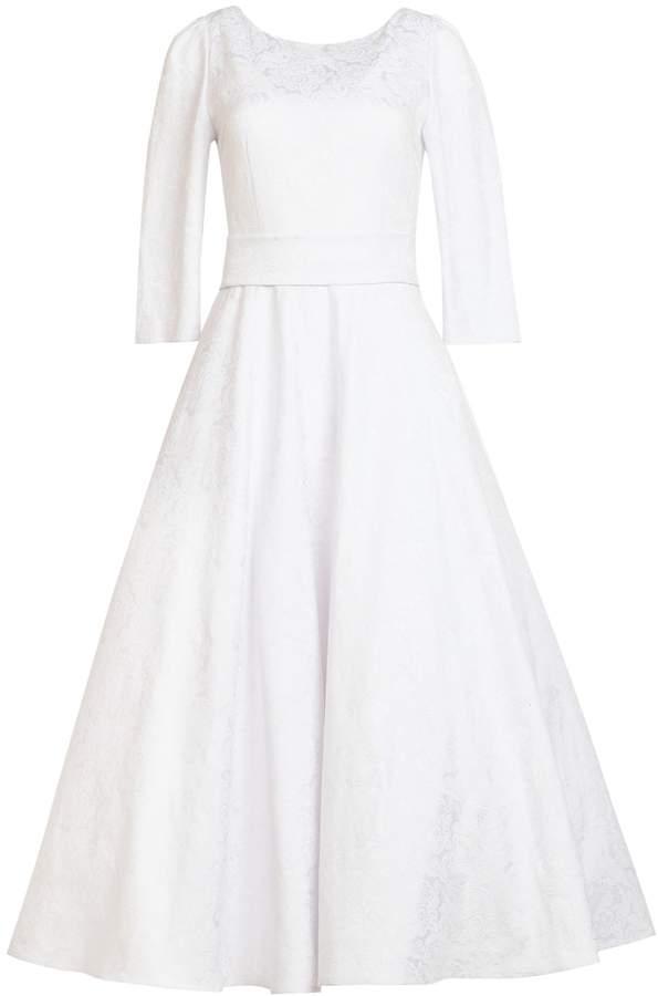 MATSOUR'I - Jacquard Dress Alyzee White