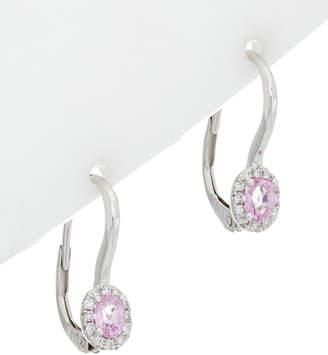 Diana M Fine Jewelry 18K 0.61 Ct. Tw. Diamond & Pink Sapphire Earrings