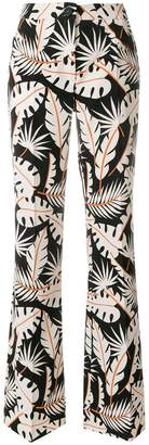 Talbot Runhof jungle print flared trousers
