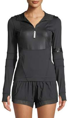 adidas by Stella McCartney Run Hooded Long-Sleeve Performance Top