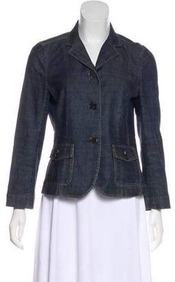 Theory Denim Notch-Lapel Blazer