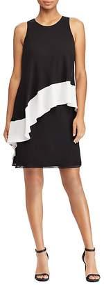 Lauren Ralph Lauren Color-Blocked Georgette Dress