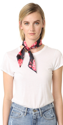 Kate Spade New York Rosa Silk Skinny Scarf $48 thestylecure.com
