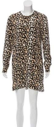 Equipment Silk Leopard Print Dress