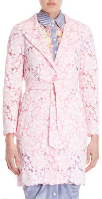 Moschino Embroidered Floral Long Jacket