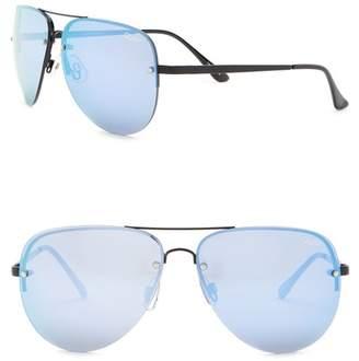 Quay 55mm Muse Aviator Sunglasses