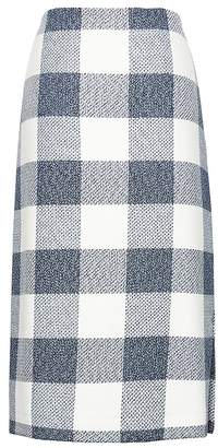 Banana Republic Petite Gingham Pencil Skirt with Side Slit
