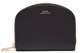 A.P.C. Half Moon Leather Wallet - Womens - Black