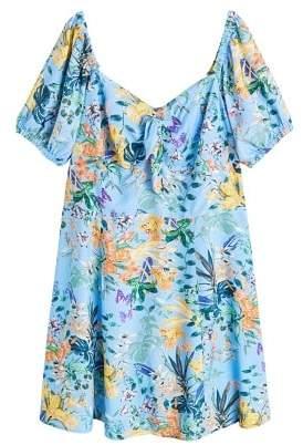 Violeta BY MANGO Tropical print dress