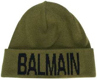 Balmain branded beanie