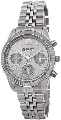 August Steiner Womens Silver Tone Strap Watch-As-8103ss
