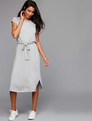 A Pea in the Pod Pull Over Mock Layer Nursing Dress