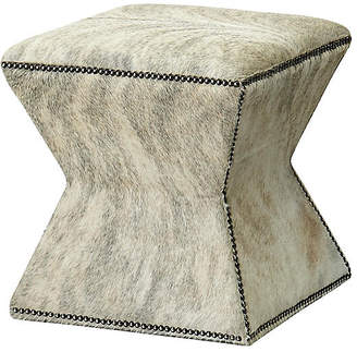 Massoud Furniture Althea Ottoman - Gray Brindle