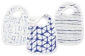 Aden Anais aden + anais Baby's Three-Pack Indigo Snap Bibs