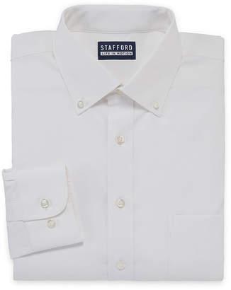 STAFFORD Stafford Stafford Poly Span Long Sleeve Woven Dress Shirt