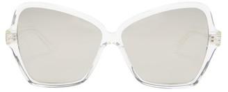 Celine Oversized Butterfly Acetate Sunglasses - Womens - Silver