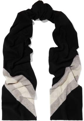 Madeleine Thompson Gunther Striped Wool And Cashmere-blend Scarf