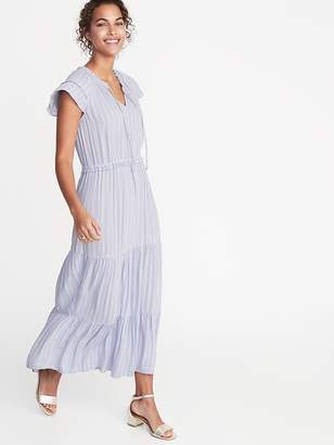 2450a13cbad Old Navy Waist-Defined Crepe Maxi Dress for Women