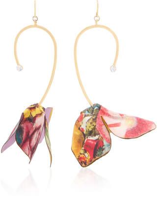 Marni Multi Color Cotton Flower Earrings