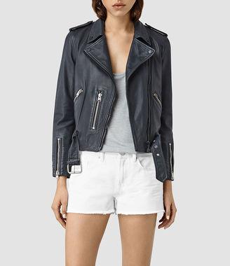 Wyatt Zip Leather Biker Jacket $560 thestylecure.com