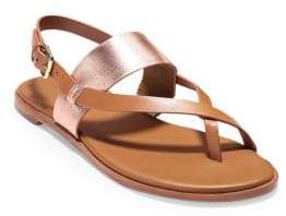 Cole Haan Women's Anica Leather Slingback Sandals - Brown - Size 40 (10)