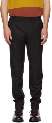 Norse Projects Black Tech Wool Luther Trousers