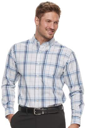 Haggar Men's Classic-Fit Stretch Poplin Button-Down Shirt