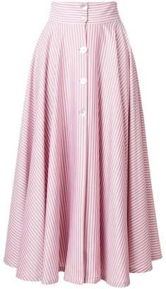 Jour/Né striped A-line skirt