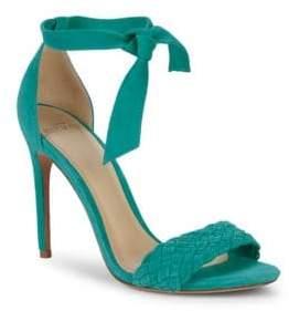 Alexandre Birman Textured Suede Stiletto Sandals