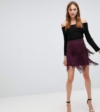 Asos Tall TALL Fringe Mini Skirt