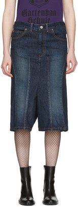 Junya Watanabe Indigo Cropped Jeans $440 thestylecure.com