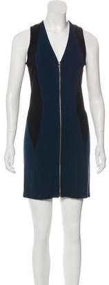 Yigal Azrouel Cut25 by Zip-Accented Mini Dress