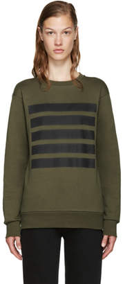 Palm Angels Green 5 Stripes Sweatshirt