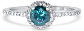 Alberto Round Blue Diamond Ring