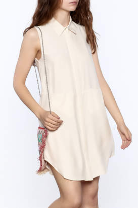 Zoa Beige Silk Dress