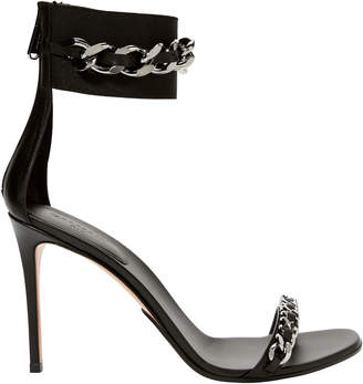Balmain Duo Chain Ankle Strap High Sandals