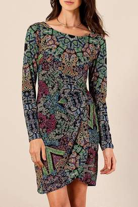 Hale Bob Holloway Faux Wrap Dress