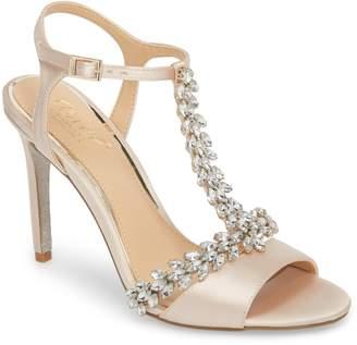 Badgley Mischka Maxi Crystal Embellished Sandal