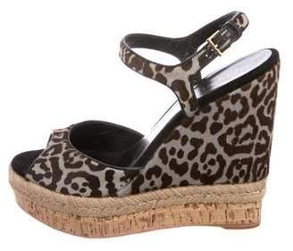 Gucci Leopard Ponyhair Wedges