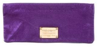 Dolce & Gabbana Metallic Leather Clutch