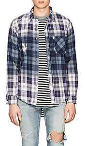NSF Men's Axel Distressed Plaid Flannel Shirt