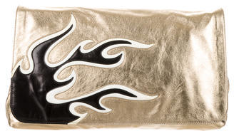 pradaPrada Nappa Flame Clutch
