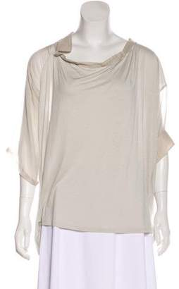 Hussein Chalayan Short Sleeve Knit Top