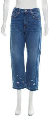 Rag & Bone High-Rise Wide-Leg Jeans