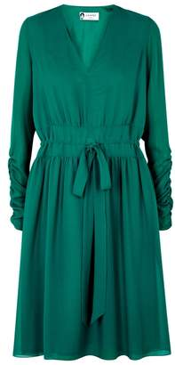 Lanvin Turquoise Silk Georgette Dress