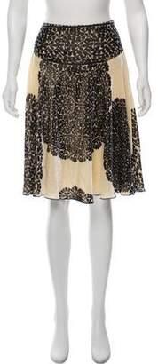 Diane von Furstenberg Knee-Length Velvet Skirt