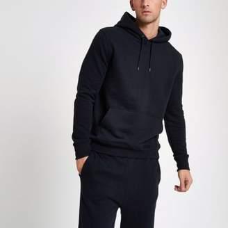 River Island Navy long sleeve hoodie