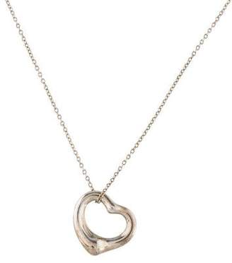 Tiffany & Co. Open Heart Pendant Necklace